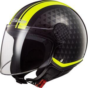 LS2 OF558 Sphere Lux Crush Kask motocyklowy Czarny żółty XS