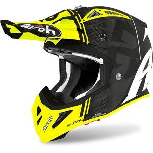 Airoh Aviator ACE Kybon Hełm motocross Czarny żółty M