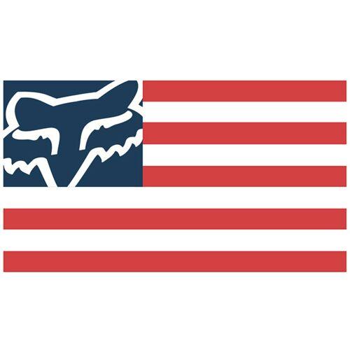 FOX Flag Naklejki  - Size: 15 cm