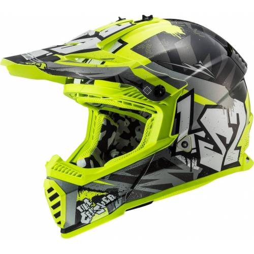 LS2 MX437 Fast Evo Crusher Hełm motocross  - Size: Large