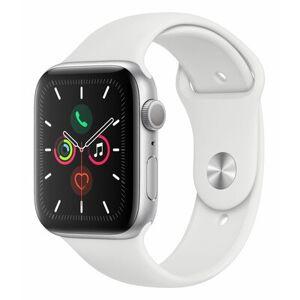 Apple SmartWatch APPLE Watch Series 5 GPS Koperta 44 mm z aluminium w kolorze srebrnym z paskiem sportowym w kolorze białym MWVD2WB/A