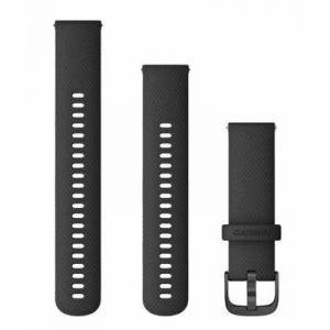 Garmin Pasek do smartwatcha GARMIN 22mm silikon Czarny ze srebrnym zapięciem 010-12932-21