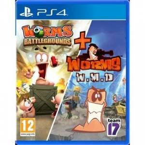 CENEGA Gra PS4 Worms Battlegrounds + Worms W.M.D