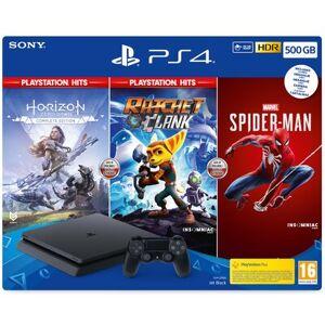 Sony Konsola SONY PlayStation 4 Slim 500GB F Chassis + Ratchet & Clank + Marvel's Spider-Man + Horizon Zero Dawno Complete Edition
