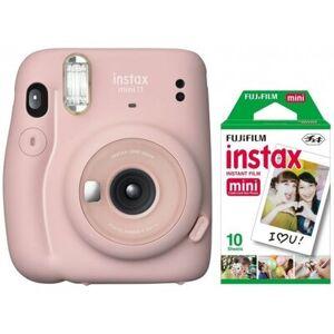 Fujifilm Aparat FUJIFILM Instax mini 11 Blush Pink Różowy + 10 wkładów Instax mini
