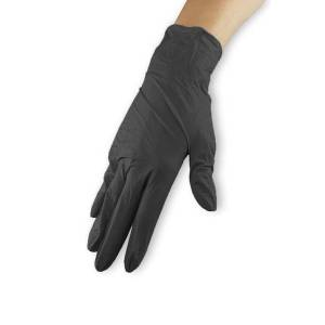Neonail Rękawiczki nitrylowe - czarne, rozmiar L
