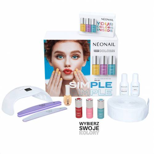 Neonail Zestaw startowy SIMPLE One Step Color Protein PRO Starter Set