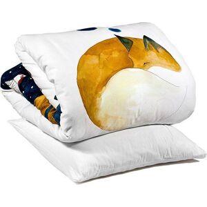 Foonka Pościel Hayka Śpiący Lis 100 x 135 cm z poduszką 60 x 40 cm