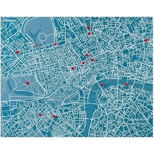 Palomar Dekoracja ścienna Pin City Londyn jasnoniebieska