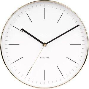 Karlsson Zegar ścienny Minimal złoty biały