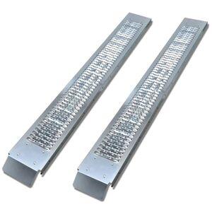 vidaXL Stalowe rampy załadunkowe, 2 szt., 450 kg