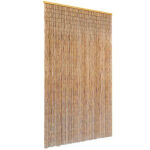 vidaXL Zasłona na drzwi, bambusowa, 120 x 220 cm