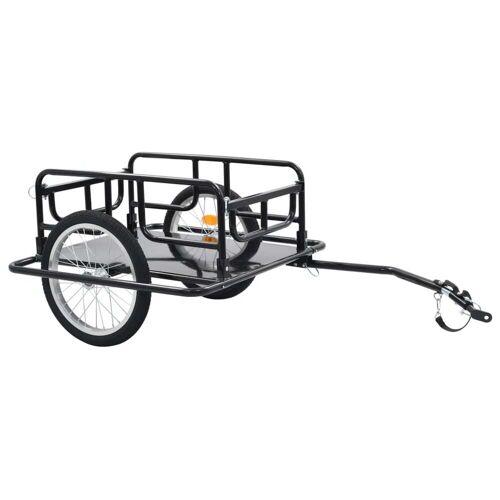 vidaXL Transportowa przyczepa rowerowa 130x73x48,5 cm, stalowa, czarna