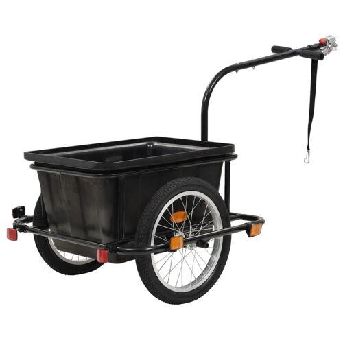 vidaXL Przyczepa rowerowa, czarna, 50 L