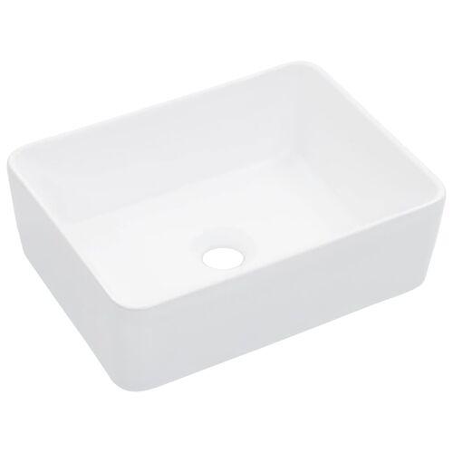 vidaXL Umywalka, 40 x 30 x 13 cm, ceramiczna, biała