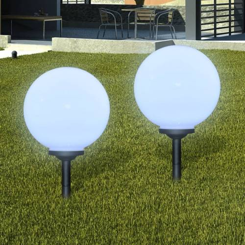 vidaXL Zewnętrzne lampy solarne LED w kształcie kuli, 30 cm, 2 szt.