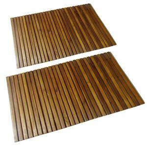 vidaXL Mata prysznicowa z drewna akacjowego, 2 sztuki, 80 x 50 cm