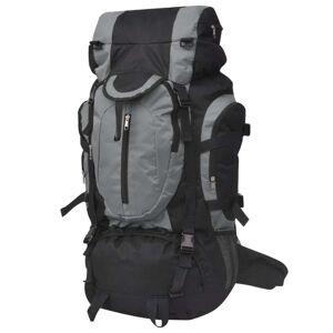 vidaXL Plecak turystyczny, XXL, 75 L, czarno-szary