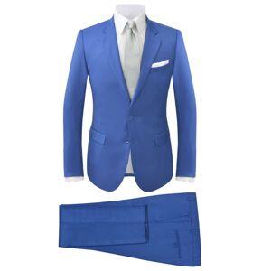 vidaXL Garnitur męski dwuczęściowy, błękitny, rozmiar 56
