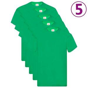 Fruit of the Loom Oryginalne T-shirty, 5 szt., zielone, 3XL, bawełna