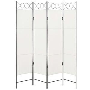 vidaXL Parawan 4-panelowy, biały, 160 x 180 cm, tkanina