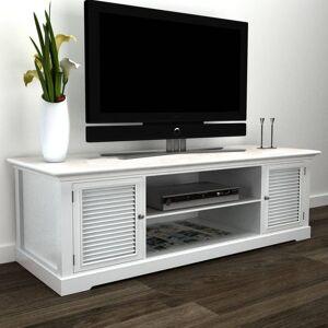 vidaXL Stolik pod TV, drewniany, biały
