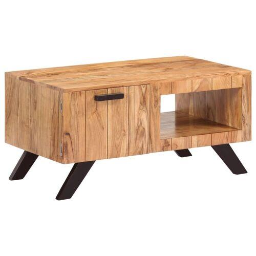 vidaXL Stolik kawowy, 90 x 50 x 45 cm, lite drewno akacjowe