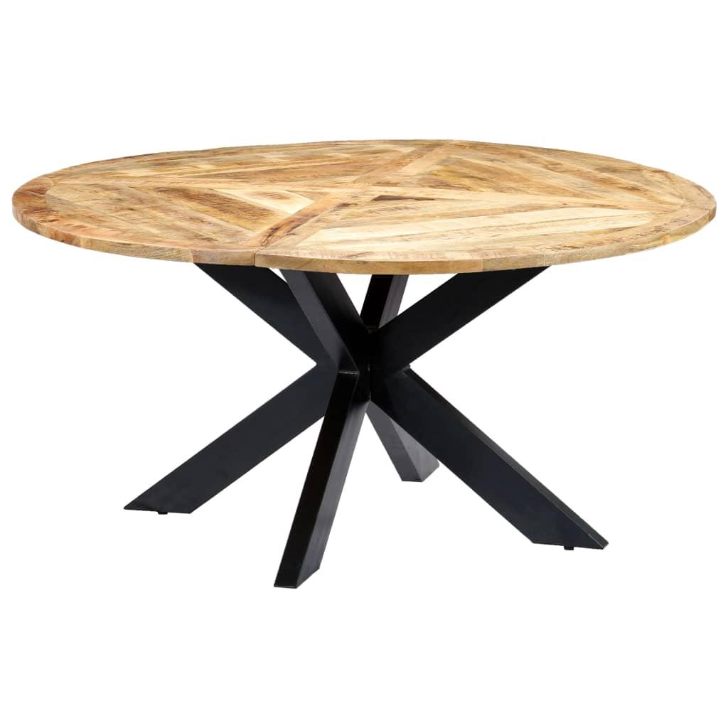 vidaXL Stół jadalniany, okrągły, 150 x 76 cm, lite drewno mango