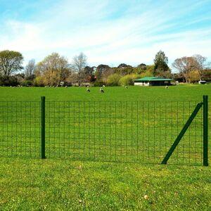 vidaXL Euro ogrodzenie, stalowe, 25 x 1,2 m, zielone