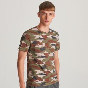Reserved - T-shirt z nadrukiem moro - Czerwony