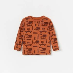 Reserved - Koszulka z bawełny organicznej - Brązowy