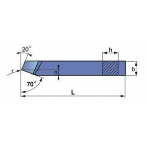 Nóż tokarski prosty ze stali szybkotnącej NNZb 1212 ISO 1L SW7M