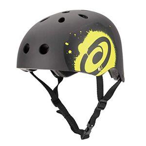 Osprey Black Casco semiintegral Ciclismo, Patinete, Skateboarding Negro, Amarillo Cascos de protección para Deportes (Casco semiintegral, Construcción Robusta con calota Dura, Mate)