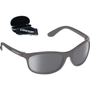 Cressi Rocker Floating Sunglasses Gafas de Sol Deportivas Flotantes con Estuche Rígido, Adultos Unisex, Gris-Lentes Espejadas Negro, Un Tamaño