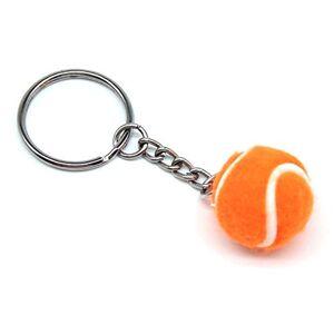 Lixada Mini Llavero de Forma de Pelota de Tenis, Llavero Tenis de Fieltro Regalo para los Amigos, Familias (Naranja-1)