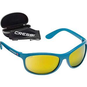 Cressi Rocker Floating Sunglasses Gafas de Sol Deportivas Flotantes con Estuche Rígido, Unisex Adulto, Aguamarina/Lentes Espejadas Naranja, Talla Única