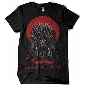 Camisetas La Colmena , 035 Game of Thrones Game of Clones (Negro L)