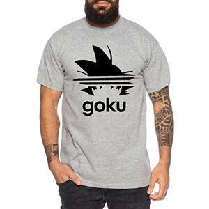 WhyKiki Adi Goku Camiseta de Hombre Dragon Master Son Ball Vegeta Turtle Roshi Db, Farbe2:Marengo Mezclado;Gre2:XXL