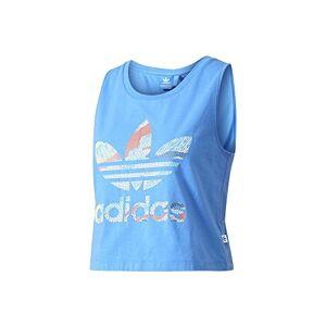 Adidas de la Mujer Loose Crop sin Mangas Top, Mujer, Color Blue/Supazu, tamaño Talla 40