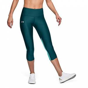Under Armour Armour Fly Fast Capri Leggings, Mujer, Verde (Tourmaline Teal/Tropical Tide/Reflective 716), XS