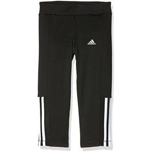 Adidas Tights Gear Up 3/4 Mallas, Niñas, Azul/Amarillo/Naranja (Negro/Blanco), 140