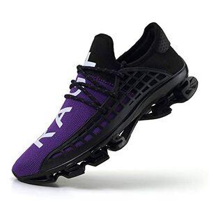 CAGAYA Zapatillas de Deporte para Hombre, Transpirables, Talla 36-48, Color Morado, Talla 42 EU