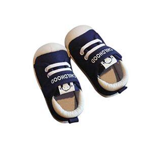 DEBAIJIA Bebé Primeros Pasos Zapatos 1-4 años Niños Zapatos Niños Niñas Infante Suave Suela Antideslizante Lona Transpirable Ligero TPR Material Slip-on Zapatillas Deportivas Outdoor
