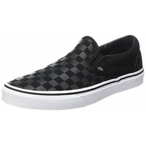 Vans Classic Slip-On, Zapatillas Unisex Adulto, Negro (Checkerboard), 45 EU