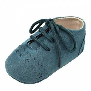 K-youth Zapatos De Bebé, Primeros Pasos para niño Zapatillas de bebé Antideslizante de Encaje hasta Zapatos 0-18 Mes (0-6Mes, Verde)