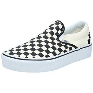 Vans Classic Slip-on Platform, Zapatillas sin Cordones para Mujer, Negro (Black and White Checker/White Bww), 43 EU
