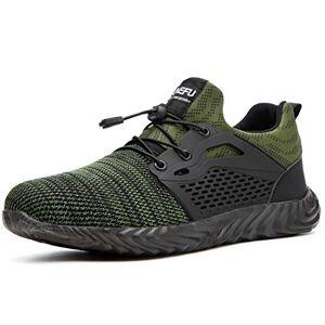UnPtios Zapatillas de Seguridad Hombres Hembra, Zapatos de Trabajo con Punta de Acero Ultra Liviano Suave y cómodo Industriales Transpirable