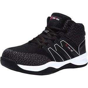 LARNMERN Zapatos de Seguridad para Hombre con Puntera de Acero Zapatillas de Seguridad Trabajo, Calzado de Industrial y Deportiva (40 EU, Negro)