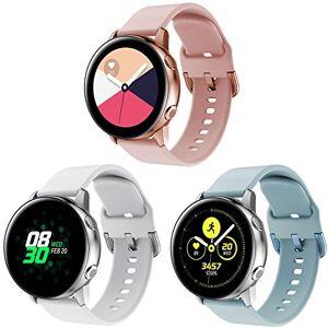 Yayuu para Samsung Galaxy Watch Active Correa, Silicona Reemplazo Correas 20MM Banda Pulseras de Repuesto Correa Suave Compatible con Samsung Active2/Galaxy 42MM Watch/Gear S2 Classic/Gear Sport