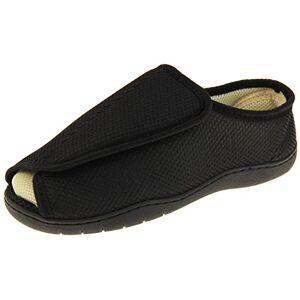 Studio Hombre Negro Malla Ajustable De Velcro Zapatillas Ortopédica EU 39-40